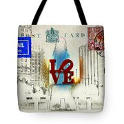 Love Park Post Card Tote Bag by Bill Cannon