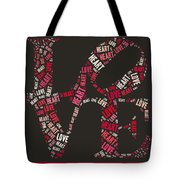 Love Quatro Heart - S111b Tote Bag by Variance Collections