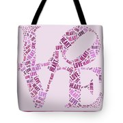 Love Quatro - Heart - S44b Tote Bag by Variance Collections