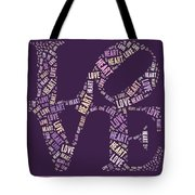 Love Quatro - Heart - S77a Tote Bag by Variance Collections
