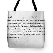 Loyalist Oath, 1779 Tote Bag by Granger