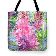 Lupine Time Tote Bag by Carol Wisniewski