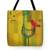 Lutgarde's Bird - 061109106y Tote Bag by Variance Collections