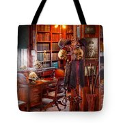 Macabre - In The Headhunters Study Tote Bag by Mike Savad