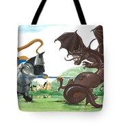 Macduff And The Dragon Tote Bag by Margaryta Yermolayeva