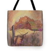 Macgregors Barn Pstl Tote Bag by Carol Wisniewski