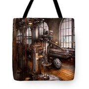 Machinist - Industrial Drill Press  Tote Bag by Mike Savad