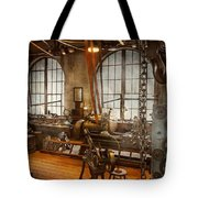 Machinist - The Crowded Workshop Tote Bag by Mike Savad