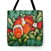 Mad Clown Tote Bag by Linda Simon