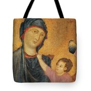 Madonna and Child Enthroned  Tote Bag by Cimabue