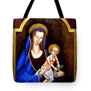 Madonna And Child Tote Bag by Genevieve Esson