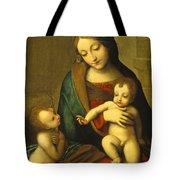 Madonna and Child with the Infant Saint John Tote Bag by Antonio Allegri Correggio
