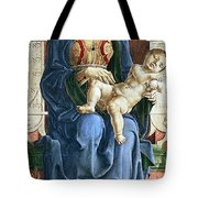 Madonna With The Child Enthroned Detail Tote Bag by Cosme Tura