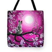 Magenta Morning Sakura Tote Bag by Laura Iverson