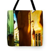Magic Lantern On The Walls Of Annecy Tote Bag by Jenny Rainbow