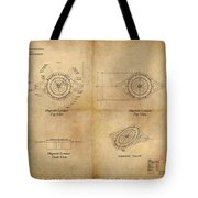Magneto System Blueprint Tote Bag by James Christopher Hill