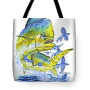 Mahi Mahi Tote Bag by Carey Chen