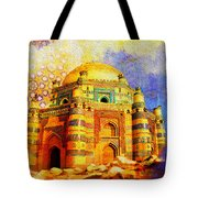 Mai Jwandi Tomb On Makli Hill Tote Bag by Catf