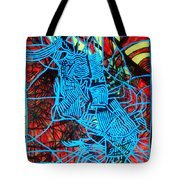 Maiden In Blue - Mary In The Temple Tote Bag by Gloria Ssali