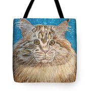 Maine Coon Cat Tote Bag by Kathy Marrs Chandler
