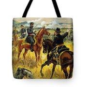Major General George Meade At The Battle Of Gettysburg Tote Bag by Henry Alexander Ogden