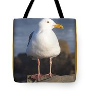 Make Sure You Get My Good Side Poster Tote Bag by Barbara Snyder