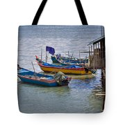 Malaysian Fishing Jetty Tote Bag by Louise Heusinkveld