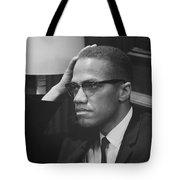 Malcolm X 1964 Tote Bag by Mountain Dreams
