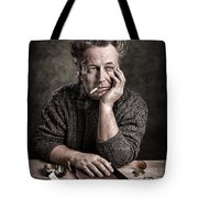 Man At The Table - Lonely Hearts Club Tote Bag by Gary Heller