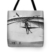 Man Gliding In 1883 Tote Bag by Underwood Archives