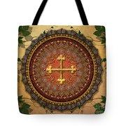 Mandala Armenian Cross Sp Tote Bag by Bedros Awak