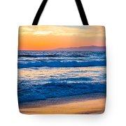 Manhattan Beach Sunset Tote Bag by Inge Johnsson