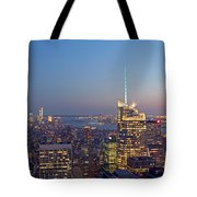 Manhattan Skyline from the Top of the Rock Tote Bag by Juergen Roth