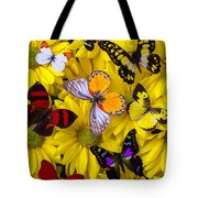 Many Butterflies On Mums Tote Bag by Garry Gay