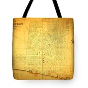 Map Of Detroit Michigan C 1835 Tote Bag by Design Turnpike