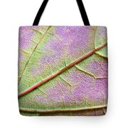 Maple Leaf Macro Tote Bag by Adam Romanowicz