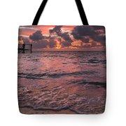 Marathon Key Sunrise Panoramic Tote Bag by Adam Romanowicz