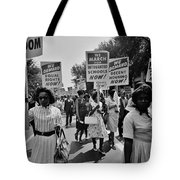 March For Equality Tote Bag by Benjamin Yeager