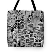March On Washington Tote Bag by Benjamin Yeager