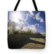 Marching Foam Tote Bag by Sean Davey