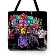 Mardi Gras Vendor's Cart Tote Bag by Marian Bell