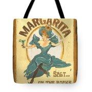 Margarita Salt On The Rocks Tote Bag by Debbie DeWitt