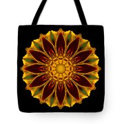 Marigold Flower Mandala Tote Bag by David J Bookbinder