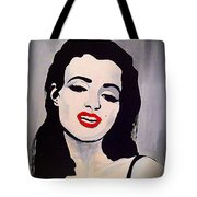 Marilyn Monroe Aka Norma Jean Artistic Impression Tote Bag by Saundra Myles