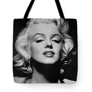 Marilyn Monroe Black and White Tote Bag by Nomad Art And  Design