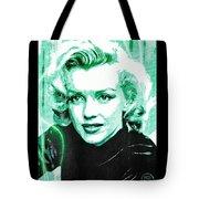 Marilyn Monroe - Green Tote Bag by Absinthe Art By Michelle LeAnn Scott