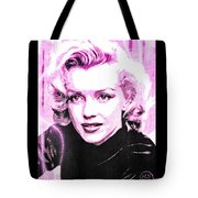 Marilyn Monroe - Pink Tote Bag by Absinthe Art By Michelle LeAnn Scott