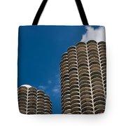 Marina City Morning Tote Bag by Steve Gadomski