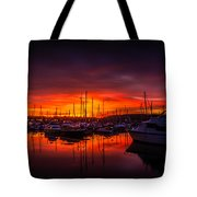 Marina Sunset Tote Bag by Dawn OConnor