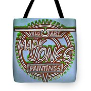 Mark Jones Velo Art Painting Blue Tote Bag by Mark Howard Jones